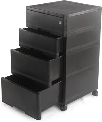 Cello Storewell Storage Cabinet, Black