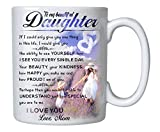 TERAVEX Coffee Mug Gifts for Daughter - To My Daughter Mug - 11 oz Novelty Ceramic Cup - Christmas, Fathers Day, Birthday, Wedding, Graduation, Valentine's Day Gift for daughters Women from Mother