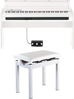 【高低自在椅子セット】KORG コルグ 電子ピアノ LP180 88鍵 ホワイト 白 電子ピアノ部門最優秀賞を受賞したKORGによる人気商品 譜面立てとペダルが付属
