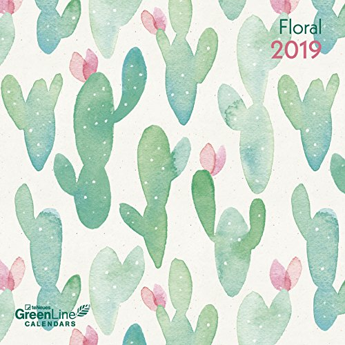 Floral Broschürenkalender - GreenLine, Wandkalender, Broschürenkalender - 30 x 30 cm