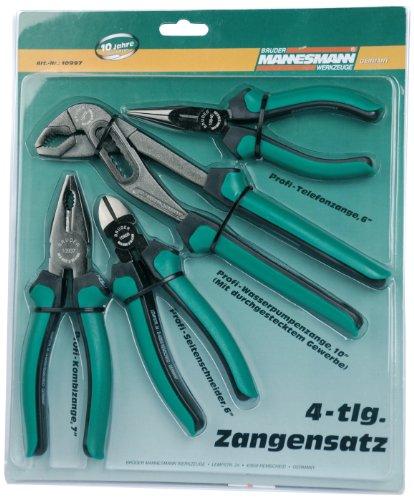 Mannesmann Zangensatz - Werkzeugstahl, 4-teilig