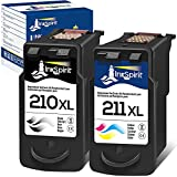 InkSpirit Remanufactured Ink Cartridge Replacement for Canon PG-210 CL-211 210XL...