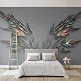 Papel Pintado Mural De Imagen 3D Alas De Plumas De Moda Pintura De Pared De Arte Abstracto Para Sala De Estar Sofá Tv Fondo Decoración De Pared De Dormitorio 400(W) X280(H) Cm