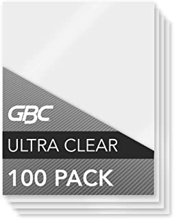"""GBC Laminating Sheets/Pouches, HeatSeal Ultra Clear, Letter Size, 11-1/2""""x9, 3 Mil, 100 Pack (3200401)"""