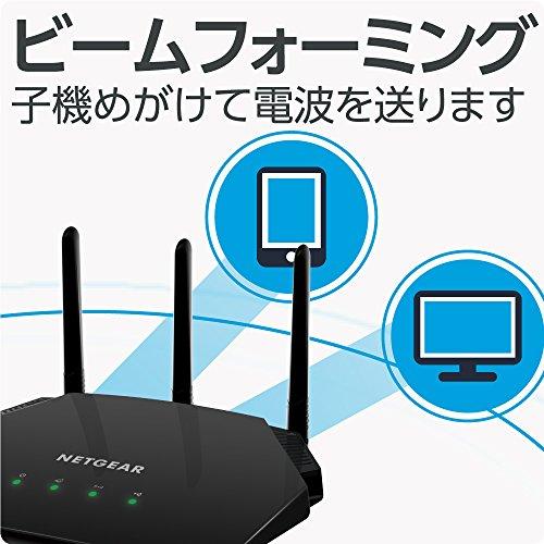 『NETGEAR WiFiルーター 無線LAN AC1700 速度 1450+300Mbps R6350』の5枚目の画像