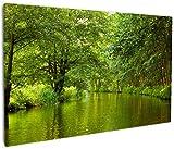 Wallario Leinwandbild Spreewald in Brandenburg grüne