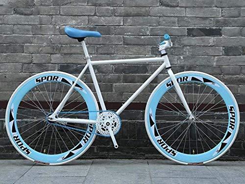 ZHJBD Worth Having - Bicicleta de Carretera, Bicicletas de 26 Pulgadas, Sistema de Frenos de fijación Trasera, Marco de Acero Alto, Carreras de Bicicletas de Carretera, Hombres y Mujeres Adultos