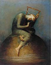 High Quality Polyster Canvas ,the Best Price Art Decorative Prints On Canvas Of Oil Painting 'Assistants And George Frederic Watts - Hope,1886', 10x13 Inch / 25x32 Cm Is Best For Study Decor And Home Gallery Art And Gifts
