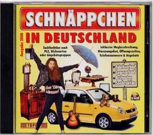 Schnäppchen in Deutschland, Ausgabe 2000, 1 CD-ROM Fabrikverkauf, Lagerverkauf, Restposten, Sonderaktionen. Für Windows 95/98/NT