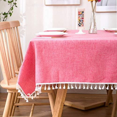 DSJ Home TV kast eettafel rechthoekig tafelkleed linnen tafelkleed, zie grafiek, 140x140cm