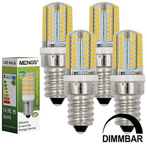 MENGS 4 Stück Dimmbar E14 LED Lampe 3W AC 220-240V Warmweiß 3000K 64x3014 SMD Mit Silikon Mantel