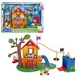 Jazwares PEP0604 - Peppa Wutz Peppa's Baumhaus & Schorsch's Burg als Spielset, Spielhaus Set und...