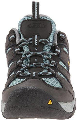 KEEN Women's Koven Hiking Shoe, Raven/Mineral Blue, 5 M US