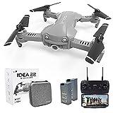 Drone GPS Pieghevoli con 2K Fotocamera Professionale, Quadricottero FPV WiFi 5GHz con Videocamera HD, Modalità Seguimi, Modalità senza Testa, Droni RC con 2 Batterie per Adulti & Bambini