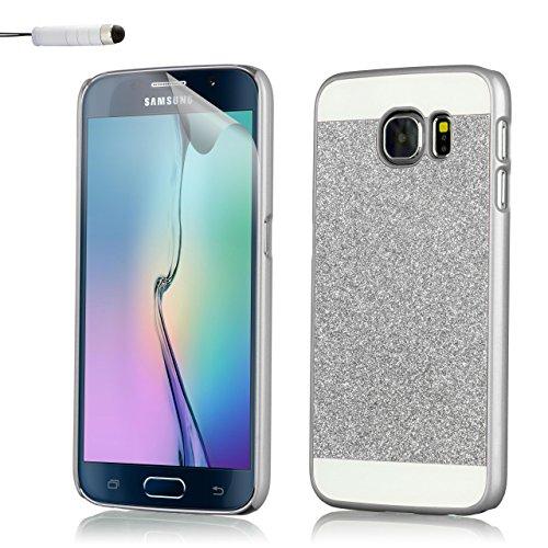 32nd Scintillio Brillare copertura anti-urti case cover per Samsung Galaxy S6 (SM-G920) - Argento