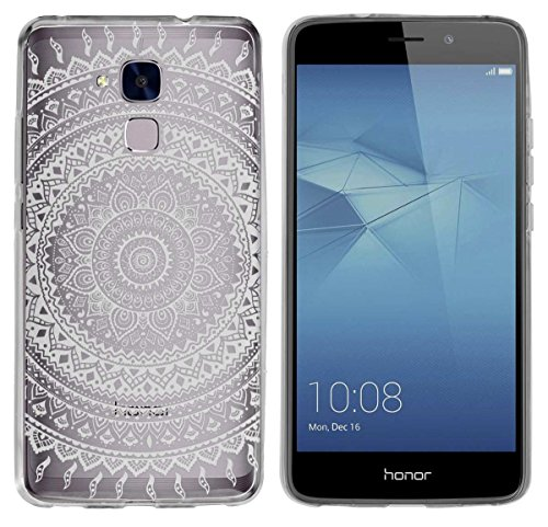 yayago Schutzhülle für Huawei Honor 5C / Huawei GT3 Hülle Indio Tattoo Transparent