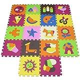 XMTMMD Suelo Para Ninos Y Infantiles EVA Puzzle ColchonetaPara Ninos Y Infantiles EVA Puzzle Puzzle Rompecabezas para cubrir el suelo (18 piezas) - Play Mat Set - Material espuma AMT2223G3210