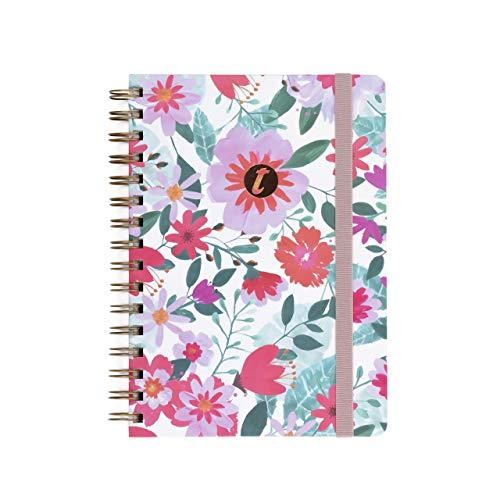 Cuaderno T-Notes Valentina- A5- Interior Rayas- Takenote Agendas- Wireo (rojo)