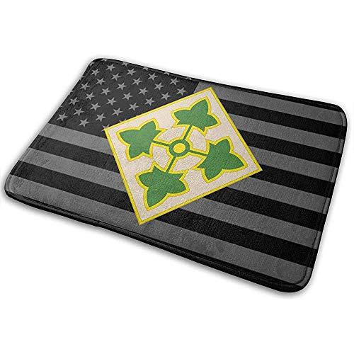 Liumt 4th Infantry Division (USA) deurmat antislip badmat badkamer keuken vloer tapijtmat