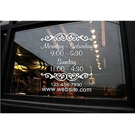 Custom Door Decals Vinyl Stickers Multiple Sizes Coming Soon Name Pizza Bistro A Business Coming Soon Outdoor Luggage /& Bumper Stickers for Cars Green 24X16Inches Set of 10
