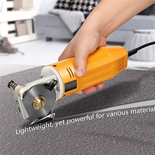 InLoveArts Cortador de Tela Eléctrico, 70MM 220V cortador de tela industrial con dispositivo de afilado automático, incisión ordenada, sin rebabas, sin arrugas