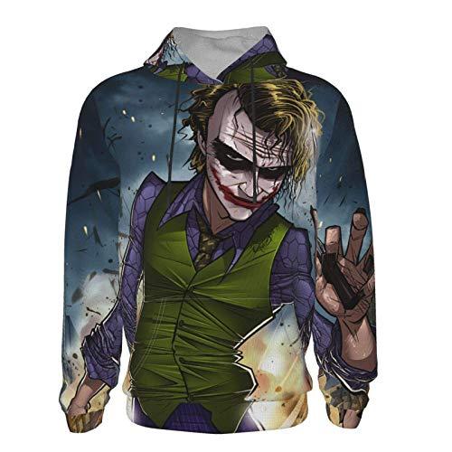 BINSNOW Anime Joker Teen Hooded Sweate Hoodies 3D Print Pullover Hoodies Chaqueta cómoda para niños niñas 10-13 años