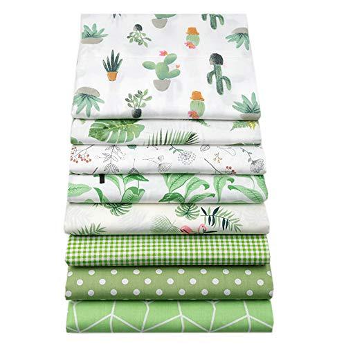 YYSZ - Lote de 8 piezas de tela de 46cm x 56cm para patchwork, cuadrados de colcha precortados para patrones de costura DIY
