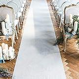 Wedding Aisle Runner White 24 in × 15 ft Bridal Carpet Runner for Indoor Outdoor Wedding Aisle Decorations