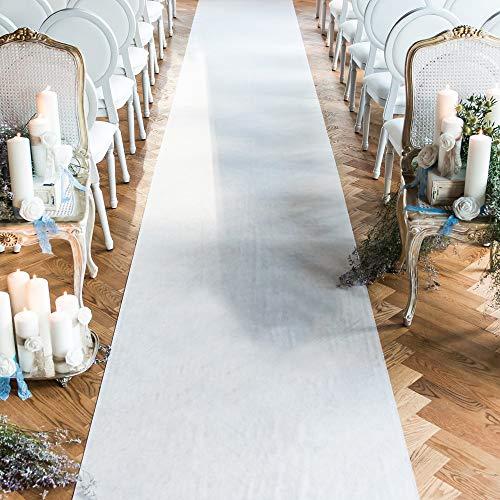 Wedding Aisle Runner White 24 in × 15 ft Bridal Aisle Runner Floor Runner Aisle for Indoor Outdoor Wedding Decorations