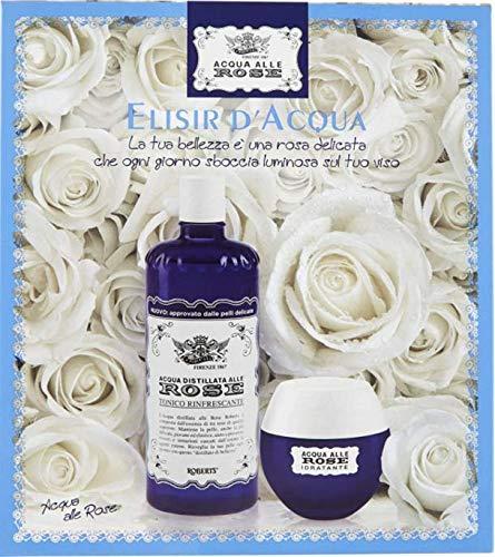 Acqua alle Rose, Cofanetto con Tonico e Crema Idratante Viso Rivitalizzante - 350 ml