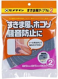 セメダイン 隙間風・ホコリ・騒音防止 すきま用テープN-2 10mm×15mm×2m TP-163