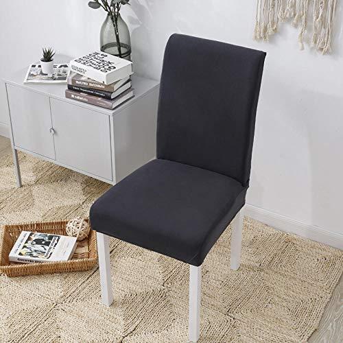 Fundas para sillas Gris Fundas sillas Comedor Fundas elásticas, Fundas de Asiento para Silla,Diseño Jacquard Cubiertas de la sillas,para el Hogar, Restaurante, Bar(2 Piezas)