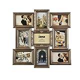 ARPAN Cadre Photo Vintage doré à Plusieurs Ouvertures, Peut contenir des Photos de 22,9 x 15,2 x 10,2 cm, Meilleur Cadeau, Cadre...