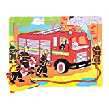 Bigjigs Toys BJ724 Tray Puzzle Fire Engine by Bigjigs Toys