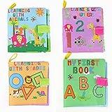 YeahiBaby Libros de Tela para Bebes Juguetes Aprendizaje Animales Números...