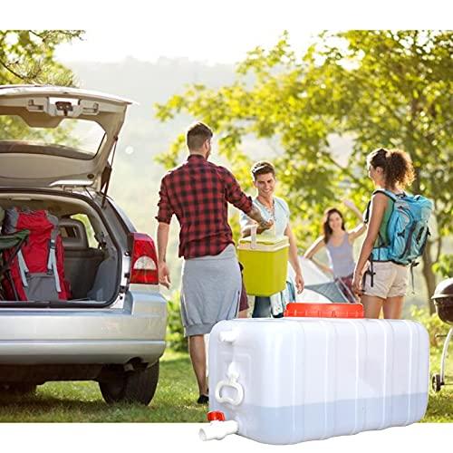 Recipiente de Almacenamiento de Agua para automóvil Horizontal, protección del Medio Ambiente Tanque de Barril de Agua de plástico con Tapa Grande para Uso doméstico de Agua de Emergencia pa