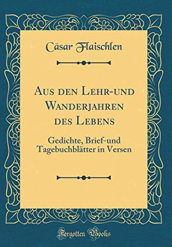 Aus den Lehr-und Wanderjahren des Lebens: Gedichte, Brief-und Tagebuchblätter in Versen (Classic Reprint)