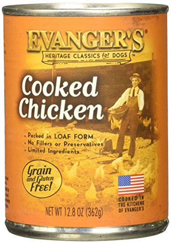 Evanger's All Natural Classic Cooked Chicken Canned Dog Food (12.8 oz. (12 in case))