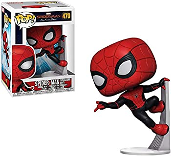 Funko Marvel  Spider-Man Far from Home - Spider-Man Upgraded Suit Pop! Vinyl Figure  Includes Compatible Pop Box Protector Case