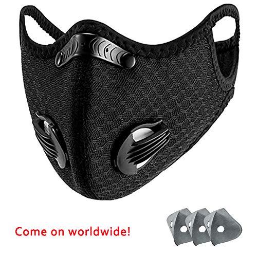 Maskers, stof maskers, actieve kool stof maskers met filters, met 3 luchtfilters voor het draaien/sport/fiets/dagelijkse activiteiten