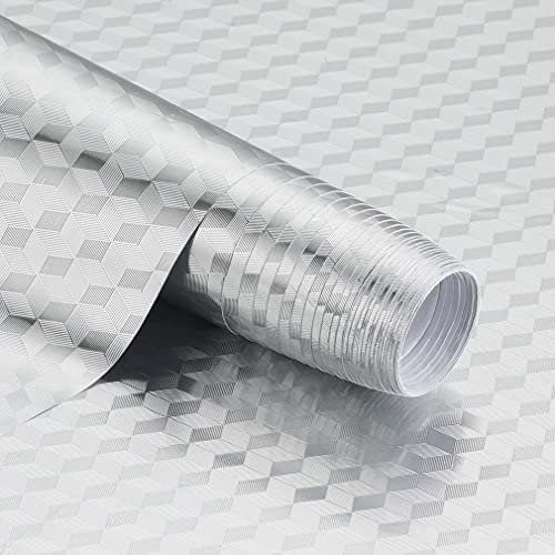 iKINLO Küchenfolie Selbstklebende Folie DIY Klebefolie Dekorfolie Hitzewiderstandsfähig Ölwiderstandsfähige Aufkleber 61x500 cm Wasserdicht Tapete für Küchen Arbeitsplatte Küchenrückwand Tische