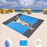 SDUQAN Beach Blanket Sand Proof Oversized 82' x 79' Beach Mat,...