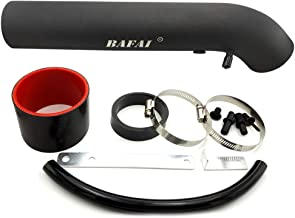 BAFAI 3 Inch Air Intake Hose with Adjustable Clamp Universal Cold Air Intake with Support Brackets Air Intake Tube Kit for Honda Civic Accord, Acura Legend Integra, Toyota Corolla, Chevy