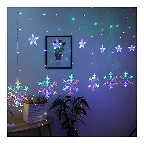 HONGTAI Hada de la Navidad Estrella snowflak Led Cortina de la Secuencia Decorativa Alquiler de Luces Garland Luces for la Fiesta de la Boda decoración de la Ventana de Inicio