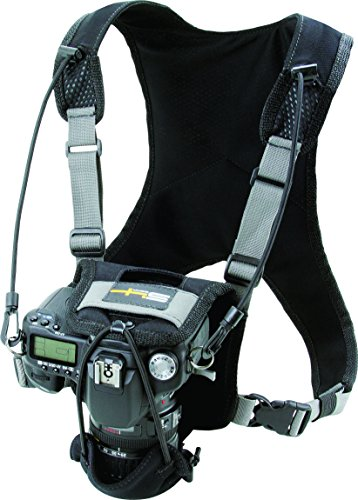 S4 Gear LockDownX Hands Free Camera Harness Strap for SLR Nikon, Canon, Sony, and More, Black