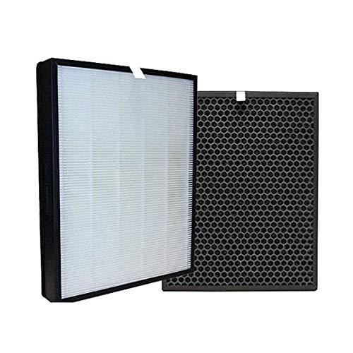 REYEE Kit de repuesto de carbón activado y filtro HEPA, FY3432 / 10 y FY3433 / 10 filtros, compatible con Philips AC3252 / AC3254 / FY3137 AC3256 / 60 purificador de aire