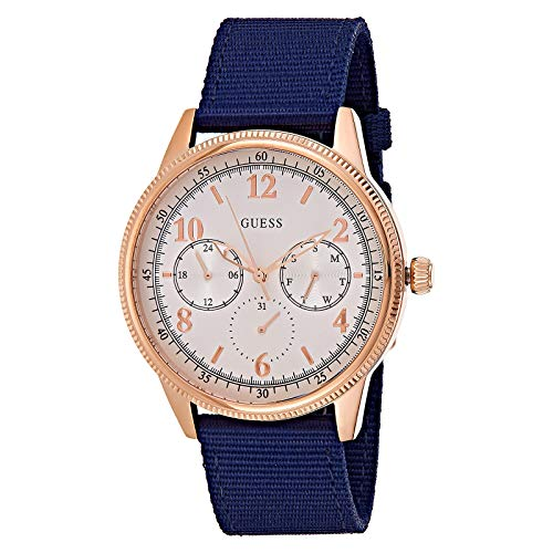 Guess Watches Gents Aviator herenhorloge analoog kwarts met nylon armband W0863G4