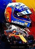 Fernando Alonso F Leinwand-Kunst-Poster und Wandkunstdruck,