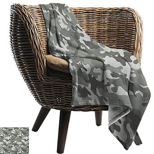 ZSUO flanel gooien deken camouflage, kostuum patroon met levendige kleur palet abstracte samenstelling verbergen blauwe kokosnoot Cozy en duurzaam Fabric-Machine wasbaar