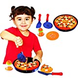 Cutting Toy Food Playset for Kids - with Pretend Play Pizza and Accessories, Cuttable Toy Pizza,...